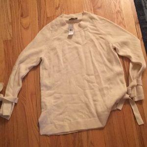 Ann Taylor tie sleeve sweater